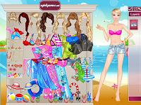 Игра Барби идёт на пляж
