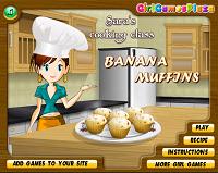 Игра Готовим банановые кексы