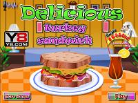 Игра Готовим сэндвич с индейкой