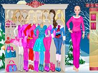 Игра Зимняя мода Барби
