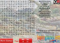 игра Динозавров Word Search