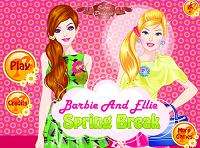 игра Барби и Элли на каникулах