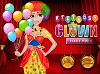 игра Праздничный макияж для клоуна