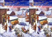 игра Найди отличия - Зимняя ночь