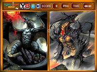 игра Найти отличия - Дракон