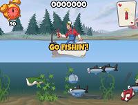 игра Рыбачим с помощью Динамита