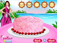 игра Барби делает торт