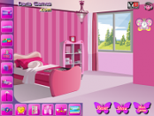 игра Декорирование комнату Барби