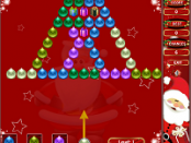 игра Пузырь съемки Рождественская версия