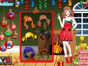 игра Рождественский наряд для малышки