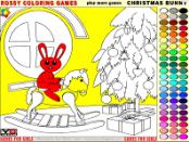игра Рождество Фанни - раскраска