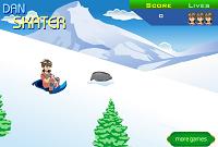 игра Бакуган на санках по снегу