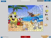 игра Спанч Боб на пляже