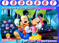 игра Друзья Микки - скрытые числа