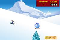 игра Микки на сноуборде